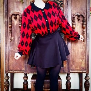Vintage Argyle Pull-Over Sweater